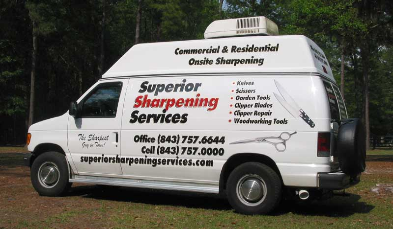 Superior Sharpening offers mobile on-site sharpening services to